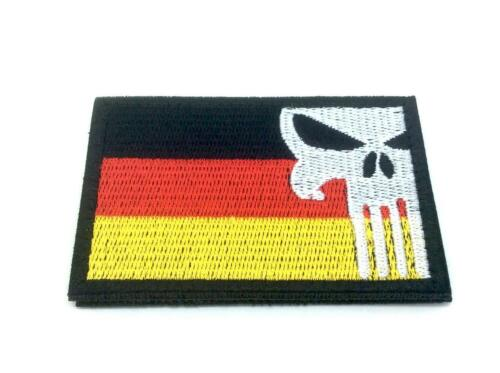 Germany German Punisher Embroidered Airsoft Paintball Patch