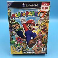 Mario Party 7 W/ Microphone [big Box] (nintendo Gamecube, 2005) - Sealed