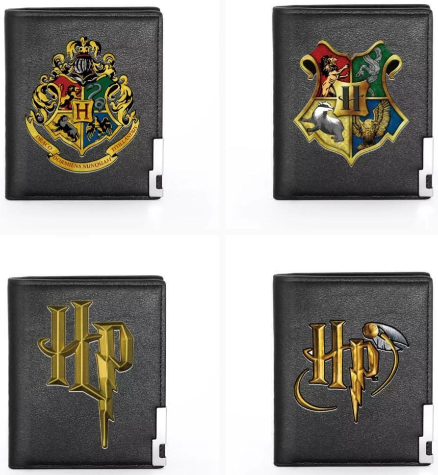 Harry Potter Black Wallet Card Holder Hogwarts Crest Faux Leather Unisex