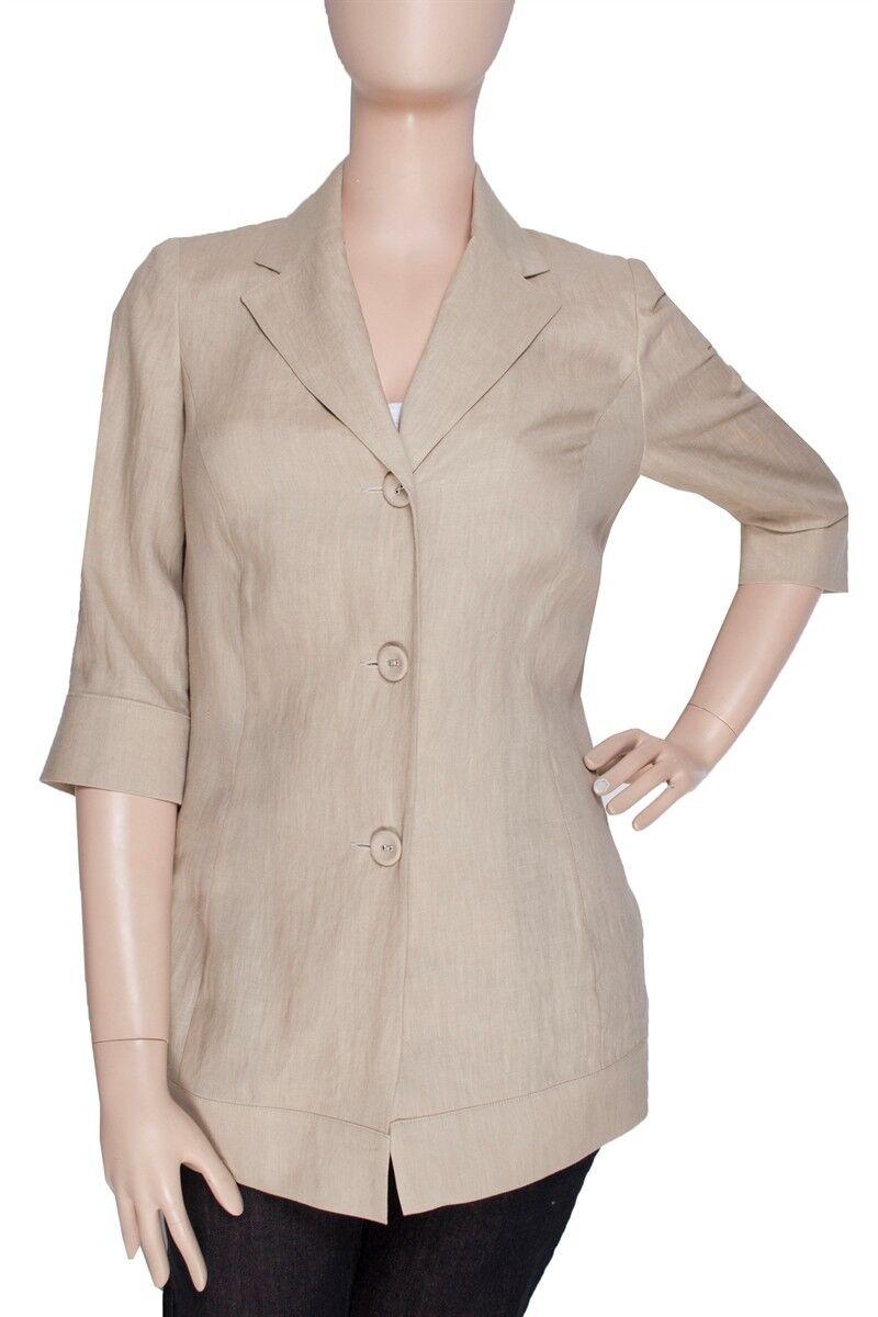 Ann Harvey Lin Veste/Blazer ~ manches PIERRE 3/4 taille ~ UK 22 ~ PIERRE manches ~ Plus Taille 8baa9c