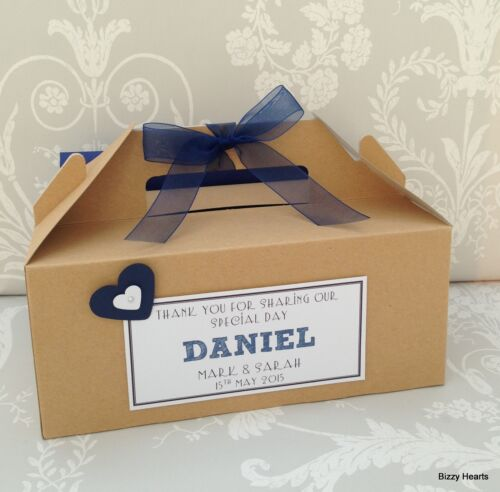 Personalised Childrens Wedding Favour Activity Box BROWN KRAFT Gift Party