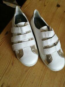 VITAFORM Herren Schuh echt Leder Klettverschlüsse 2 farbig