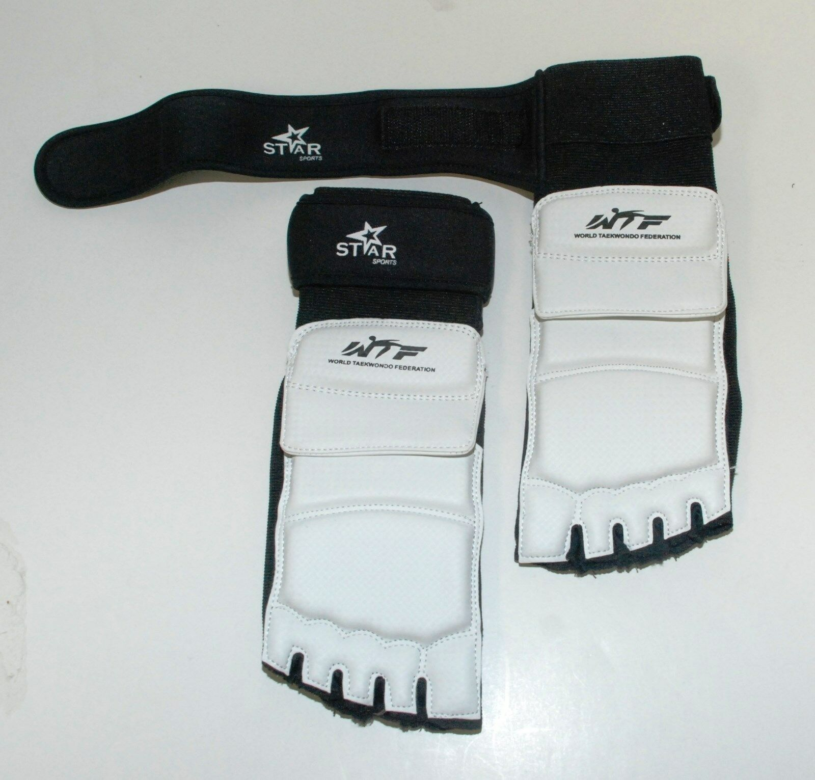 WTF TaeKwonDo Foot Guard Predector TKD Martial Arts Sparring Instep Gear Karate