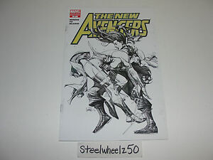 New-Avengers-31-Leinil-Francis-Yu-Sketch-Variant-Marvel-Comics-Secret-Invasion