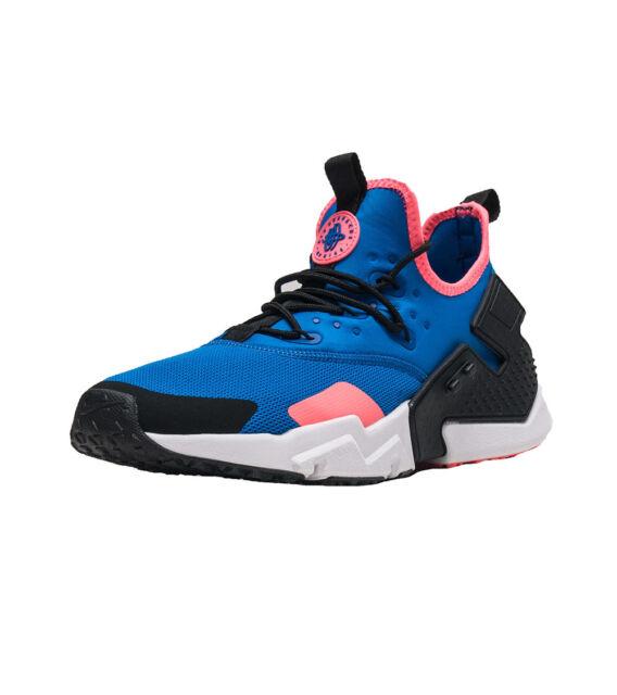 5ac0c79c7483e Nike Mens Air Huarache Drift Sneakers Blue Nebula/Black-Black-White AH7334-