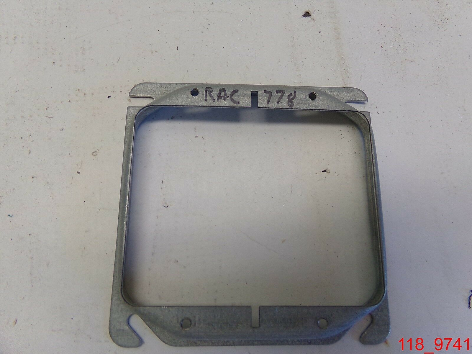 4-Inch Square Mud-Ring for 1 Device Hubbell-Raco 8773 Raised 3//4-Inch