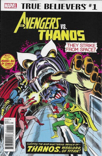 Avengers Vs Thanos Comic Issue 1 Classic Reprint True Believers 2018 Marvel