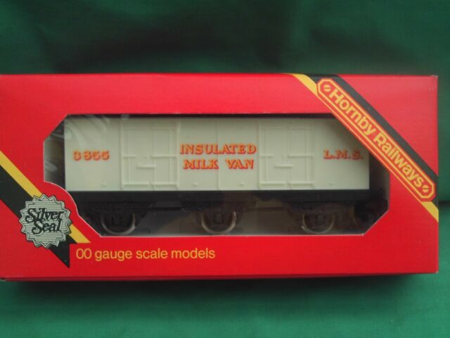 HORNBY R.671, 6- WHEELED L.M.S.INSULATED MILK CLOSED VAN 3855  MINT BOXED