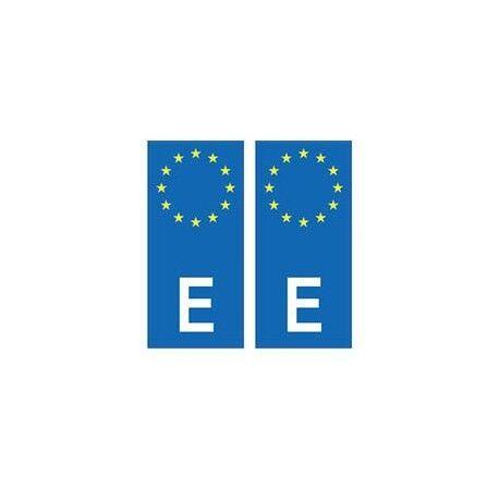 Espagne España europe autocollant plaque -  Angles : arrondis