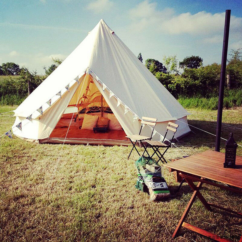 Outdoor Luxury Canvas Camping  Bell Tent Survival Hunting Glamping 16FT(5M) NEW  all goods are specials