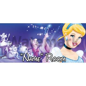 4 Disney Cendrillon personnalisé chambre Porte Signe-Tout Nom//texte