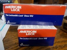Case Of 6 American Lock Padlock With2 Keys Aa59487 2s Heavy Duty Military Surplus