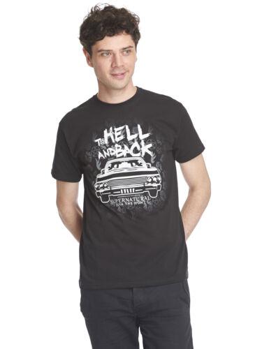 Super Natural To Hell T-Shirt Hommes Noir