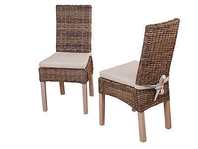 8451 Esszimmerstuhl Rattanstühle Stuhl Hofmann Stühle 2er Set Rattan Massivholz | eBay