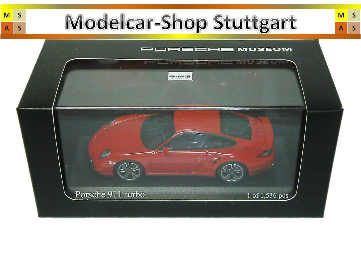 Porsche 911 Turbo Indischred Museum Edition Minichamps 1 43 map02036514 NEW