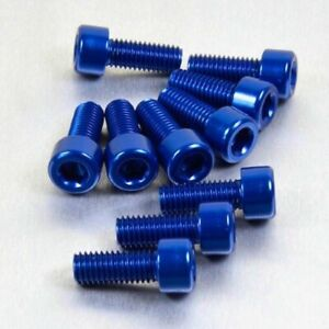 Vite Metrica M3x8mm Testa Svasata in Lega di Alluminio in ERGAL BLU 5pz.