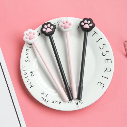1pc Novelty 0.5mm Cute Cat Paw Gel Pen Kawaii Students Stationery Black Ink Pens