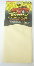 (2) Synthetic Chamois Car Cleaning Drying and Polish Microfiber Towel Pad