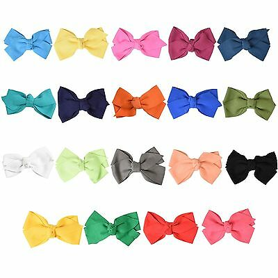 Cute Hair Bow Great Girls Medium Sized Girls Cotton Bow Hair Clip Great Color's!