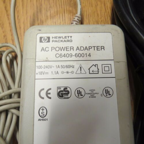 HP AC Power Adapter C6409-60014 18v supply 1.1A DeskJet Printer Hewlett-Packard