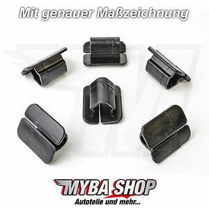 5x motorhaubend mmmatte clips befestigung vw golf polo 6n. Black Bedroom Furniture Sets. Home Design Ideas