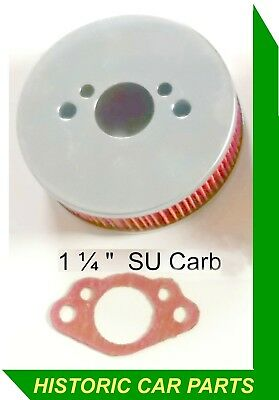 Chrome Pancake Air Filter 1 1//4 HS2 TRIUMPH SPITFIRE
