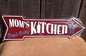 "Kitchen This Way To Arrow Sign Directional Novelty Metal 17/"" x 5/"""