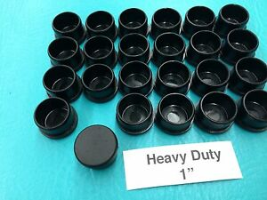 Image Is Loading 24 Plastic Black Patio Chair Leg Inserts Cups