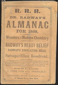De Radway S Ready Relief Remedy Pills For 1869