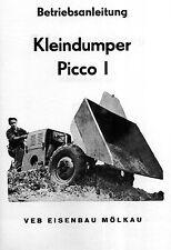 Bedienung Picco 1 Picco1 Dumper Dreikantfeile Leipzig IFA DDR VEB