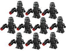 10 NEW LEGO STAR WARS SHADOW STORMTROOPER MINIFIG LOT 75079 black trooper figure