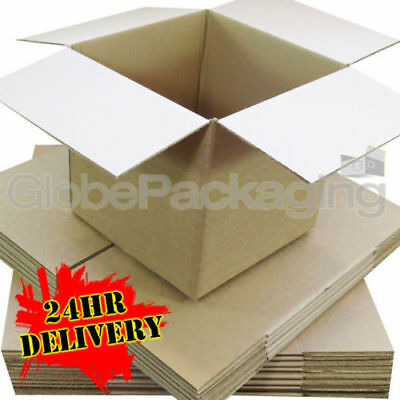 "100 x HIGH GRADE SMALL MAILING PACKING CARDBOARD BOXES 4x4x4"" CUBE *OFFER PRICE*"