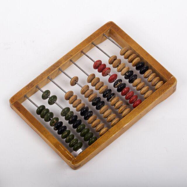 Vintage Soviet USSR children's toy wooden abacus | eBay