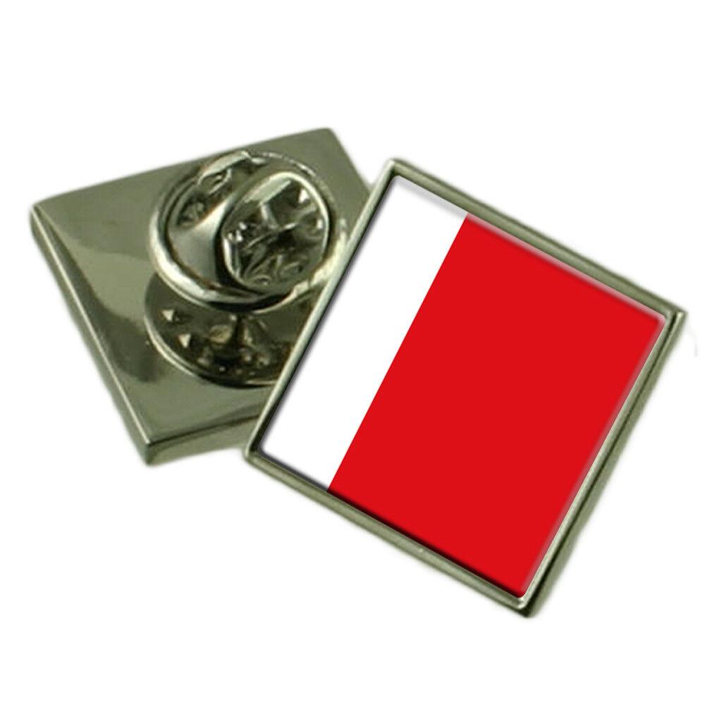 AJMAN bavero Pin argentoo Sterling 925 BADGE Incisa Incisa Incisa Personalizzata Scatola 96bc6f