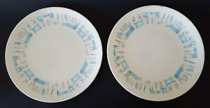 Blue-Heaven-Royal-China-Dinner-Plate-Set-of-Two-2-10-034-Light-Blue-Gray-Abstract