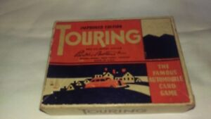 parker brothers touring automobile card game vintage cards box 1947
