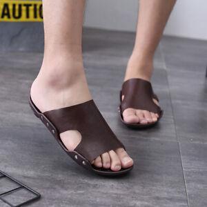 Mens Cut out Flats Sports Walking Chic Summer Slingbacks Beach Slippers Shoes B