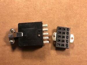 Amical Nouveau Stock Ancien Vintage Beau 15-pin Mâle Chassis Plug & Socket Paire-afficher Le Titre D'origine