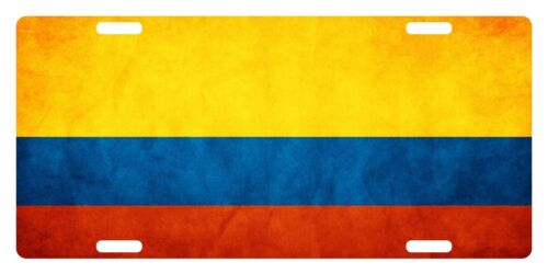 Colombia Flag Custom License Plate Colombian Emblem Paper Version
