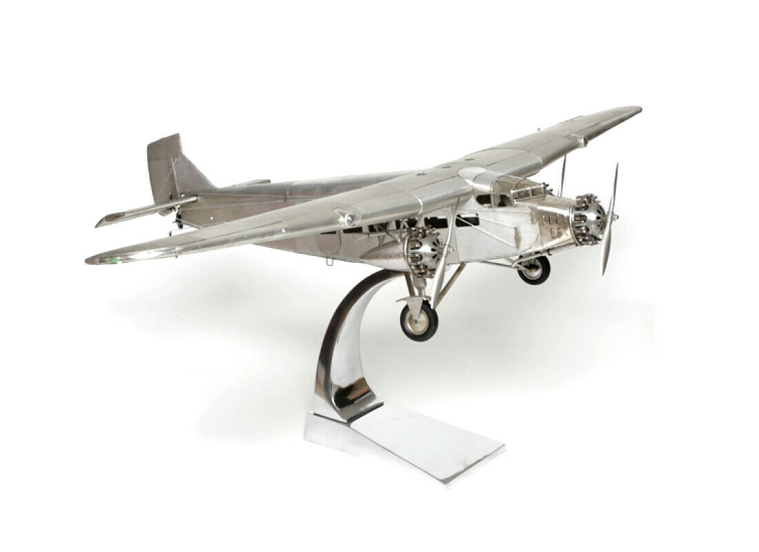 Model Airplane Ford Trimotor Voll-metall standmodell Airplane + Pedestal