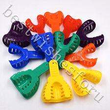 12 Pcs Disposable Dental Impression Trays Denture Plastic Model Materials Tool