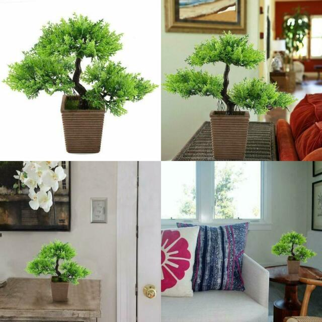Gtidea 10 6 Inch Artificial Cedar Bonsai Trees Fake Potted Plants Indoor For Sale Online Ebay