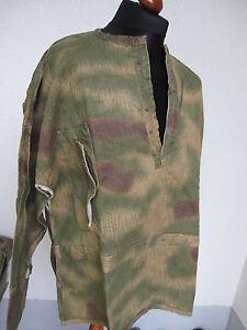 WH Schlupfhemd Sumpftarn HBT Drillich Original Material 1945 Wehrmacht WK2 WWII