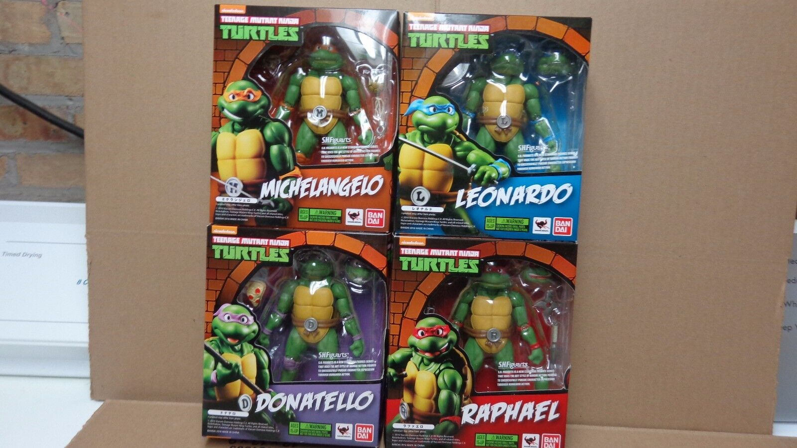 BANDAI TAMASHII nations S.H.FIGUARTS teenage MUTANT NINJA TURTLES COMPLETE set 4