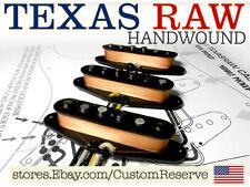 CR® CUSTOMSHOP TEXAS RAW PICKUPS SET HANDWOUND ALNICO V FOR FENDER STRAT USA