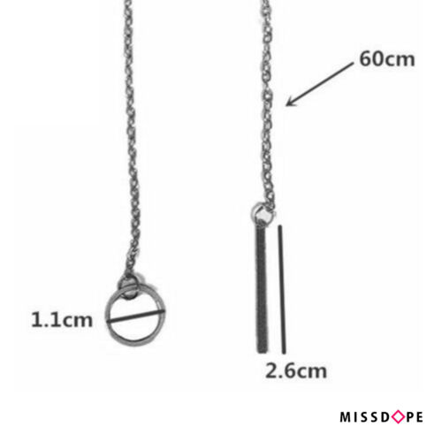 NEW Y SHAPED SILVER PLATED BAR PENDANT LARIAT NECKLACE CHAIN BOHO LADIES WOMENS