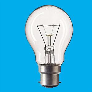 100w Watt Bayonet Light Bulbs B22 BC Cap Fit Standard Clear GLS Bulbs x 10