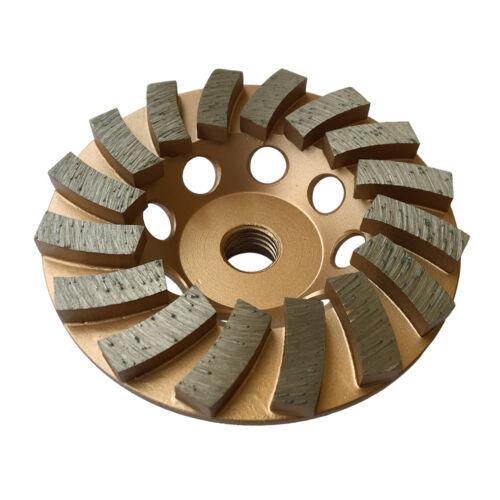 4 Concrete Grinding Cup Wheels 16 Diamond Abrasive Seg 5//8-11 Arbor