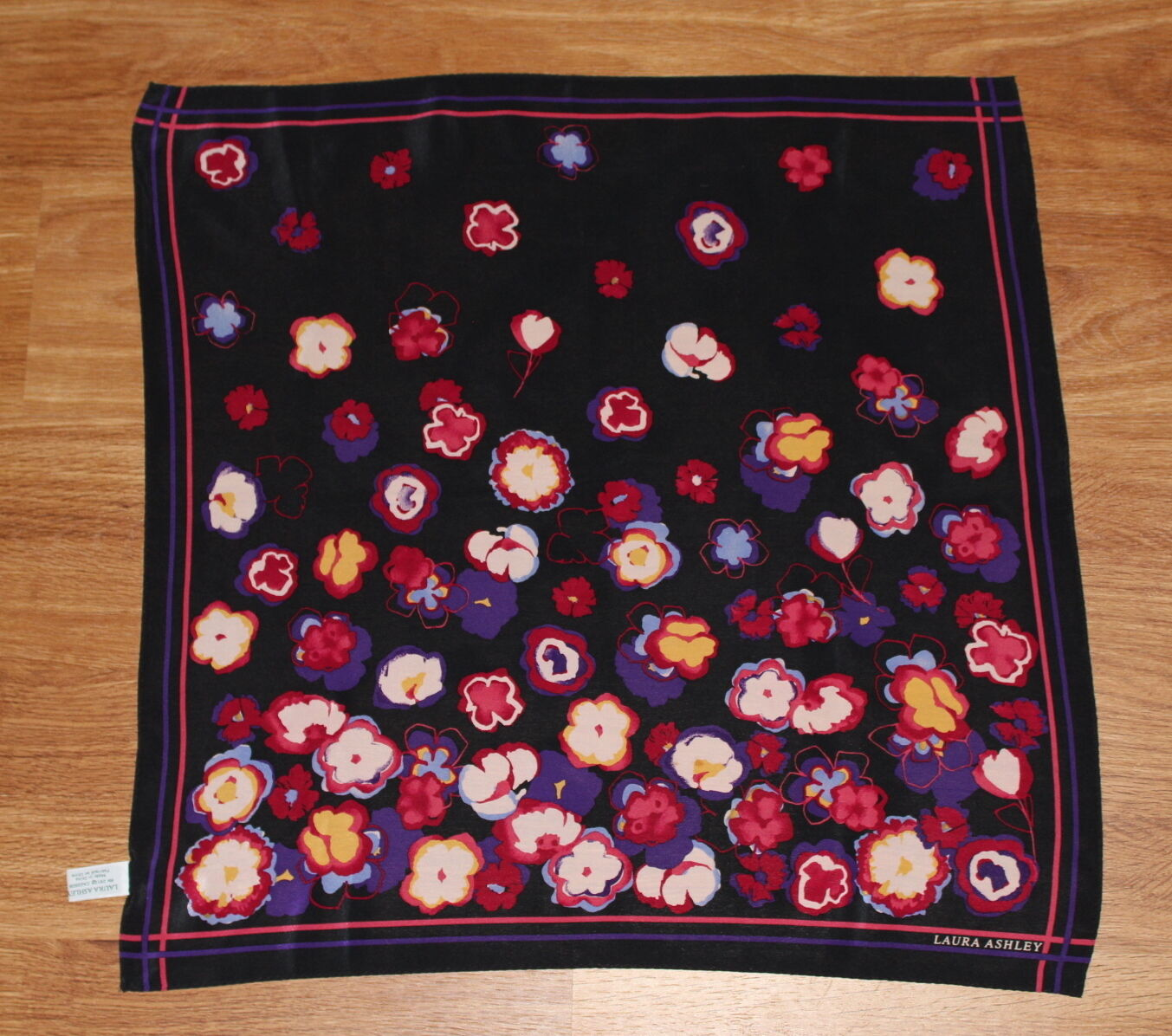 Estate - Vintage 80s 90s Laura Ashley Abstract Fl… - image 4