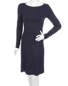 NEW-Ted-Baker-Casual-Long-Sleeve-Navy-Blue-Dress-Size-2-UK-10